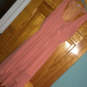 High low sheer dress